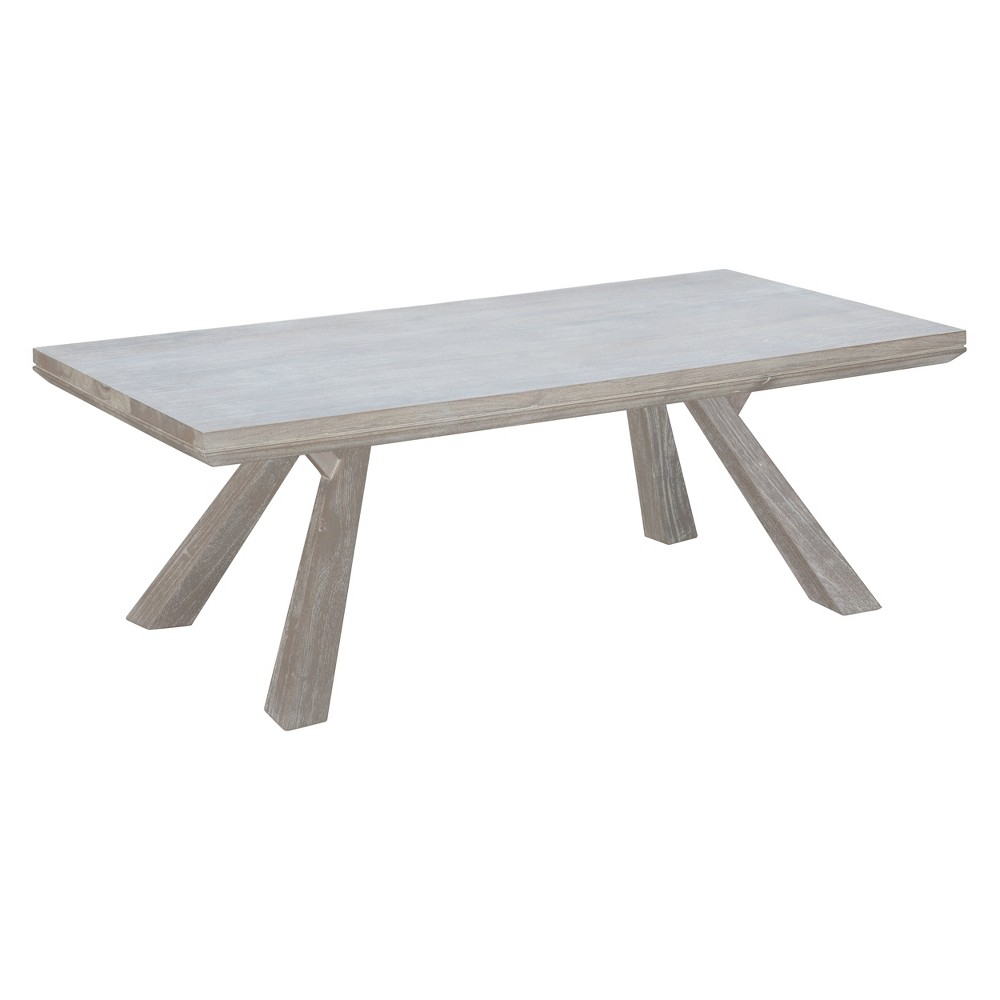 Coastal 52 Rectangular Coffee Table Sun Drenched Acacia - ZM Home, Beige