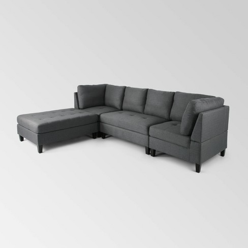 4pc Beckett Contemporary Sectional and Ottoman Set - Christopher Knight Home - image 1 of 4