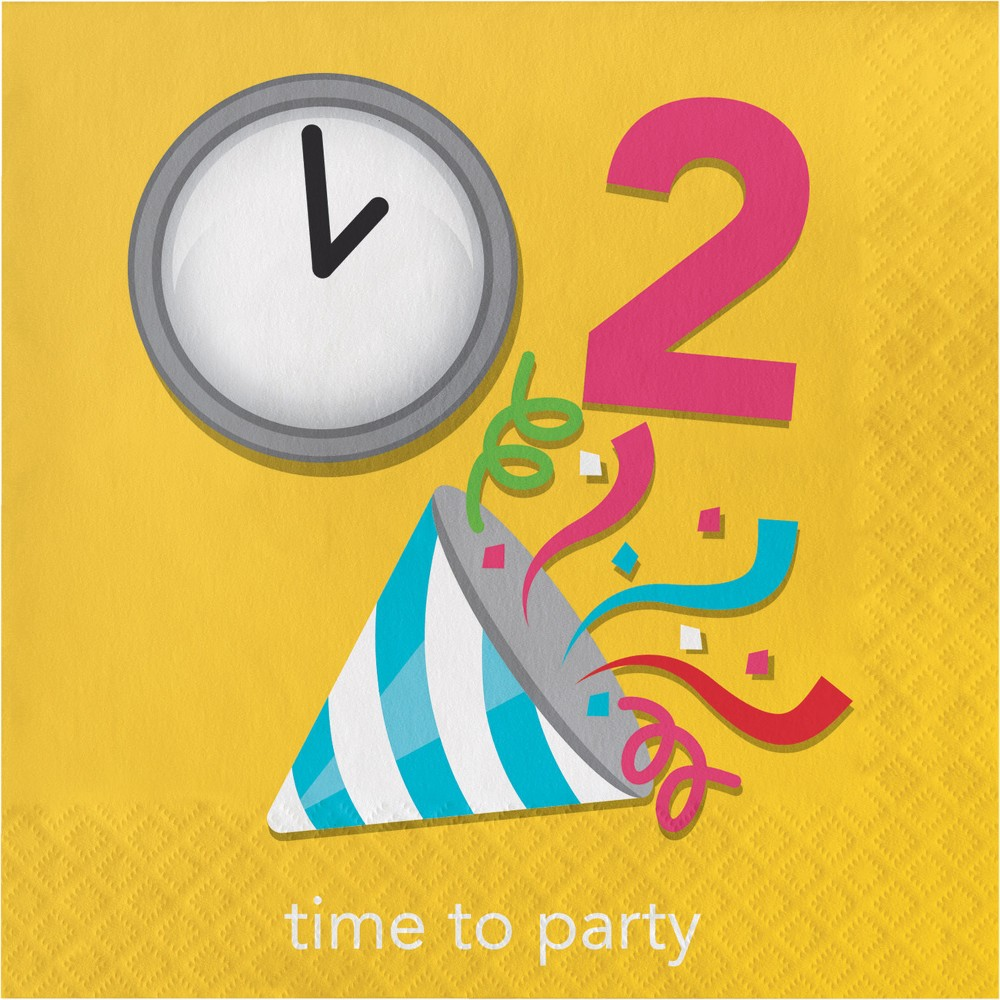 Image of 16ct Creative Converting Show Your Emojions Time to Party Napkins