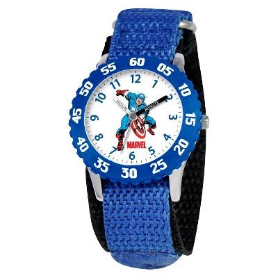 Boys' Marvel Captain America Watch - Blue