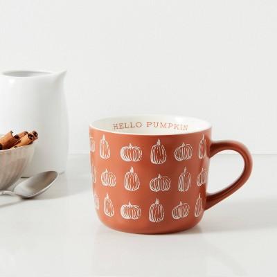 16oz Stoneware Hello Pumpkin Daria Mug Orange - Threshold™