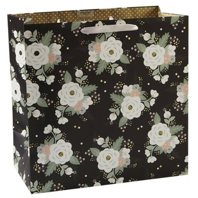 f765d51c428ef Trending Wedding Gifts   Accessories. Square Floral Gift Bag Black - Spritz™