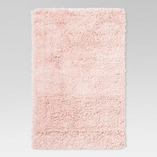 "4'X5'6"" Plush Shag Washable Accent Rug Pink  - Room Essentials™"