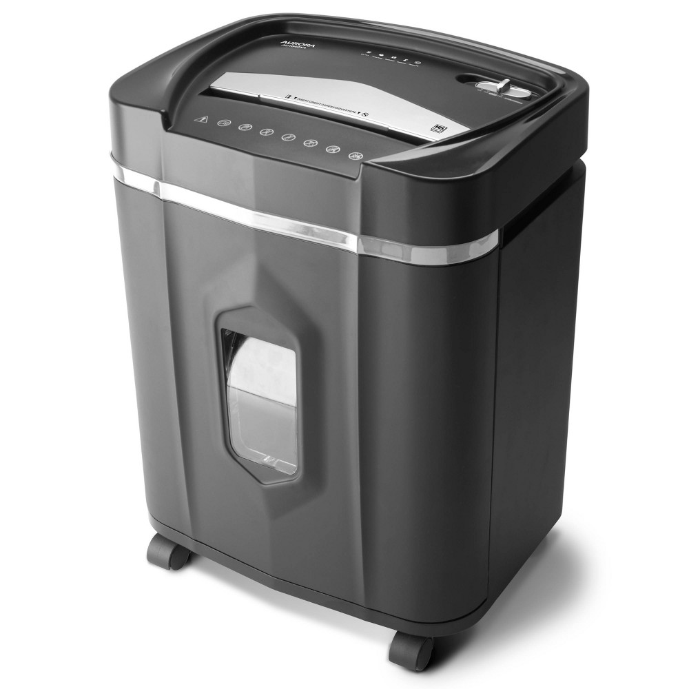 Image of Aurora 16 Sheet Anti-Jam Cross Cut Shredder, Black