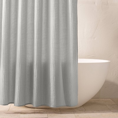 Waffle Shower Curtain Light Gray - Casaluna™
