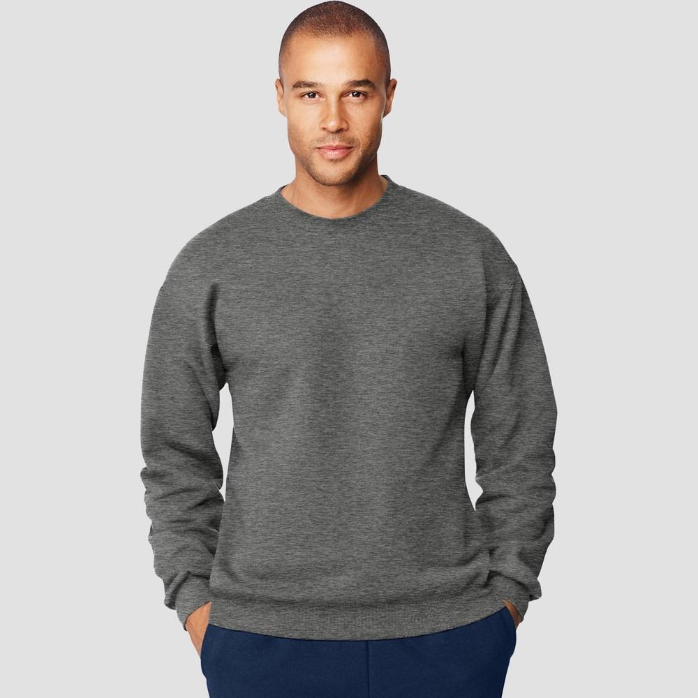Hanes Men S Ultimate Cotton Sweatshirt Charcoal Heather 2xl