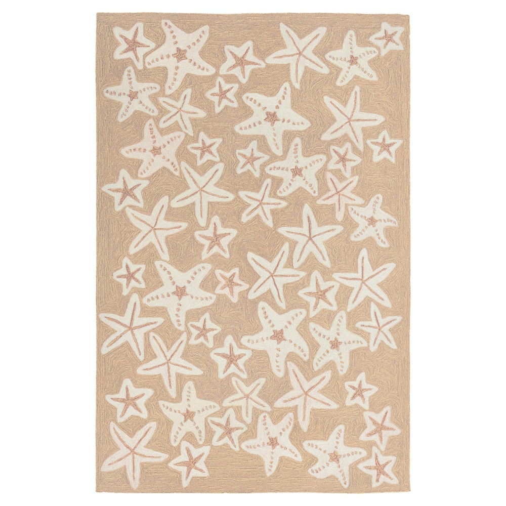 Capri Starfish Rug - Natural - (2'X8' Runner) - Liora Manne