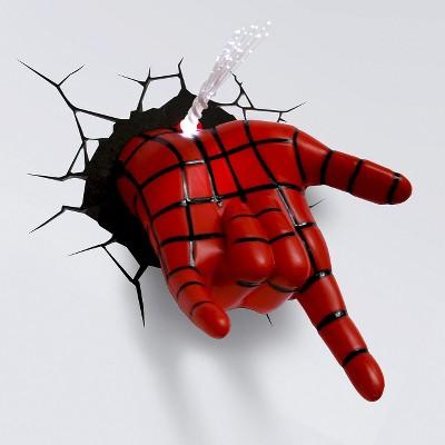 Marvel 3D Wall Night LED Light - Spider-Man Hand