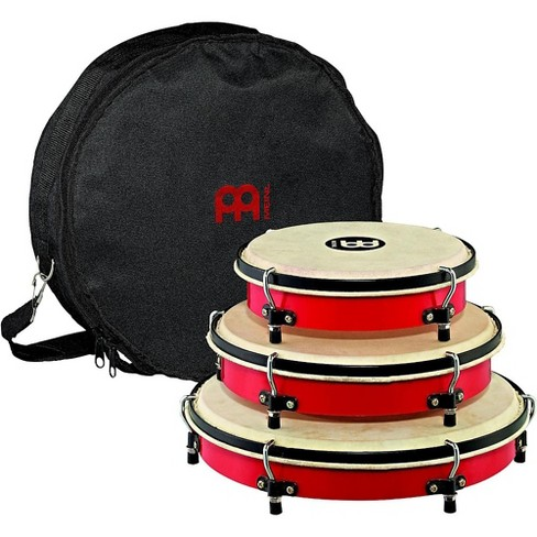 Meinl Plenera Set of 8, 10, & 12 ABS Frames with Goat Skin Heads & Nylon Bag - image 1 of 1
