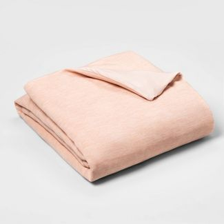 "50"" x 70"" 12lbs Weighted Blanket with Removable Cover Blush Peach - Room Essentials™"