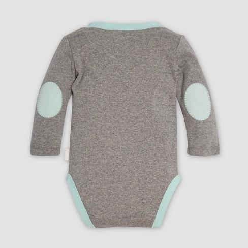 Burt s Bees Baby® Organic Cotton Henley Bodysuit   Micro Peace Stripe  Footed Pant Set - Heather Gray. Shop all Burt s Bees Baby 04f493b1d98b