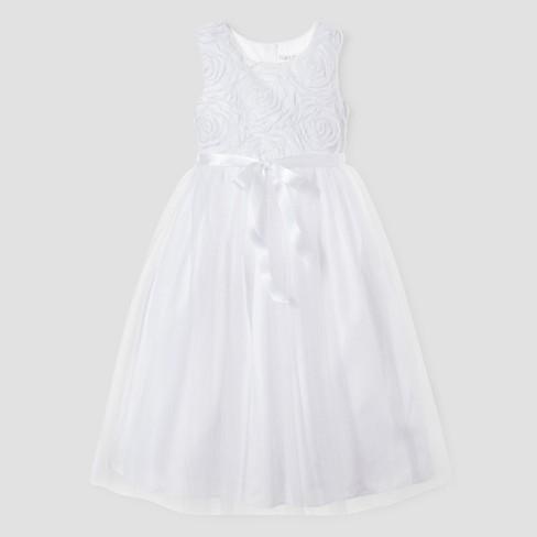 7c4a7e3102fd3 Girls' Flower Girl Dress Tevolio™ - White 6X : Target