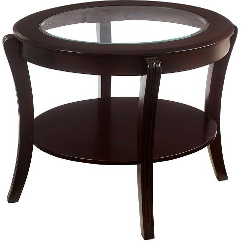 Sun & Pine End Table Espresso - image 1 of 3