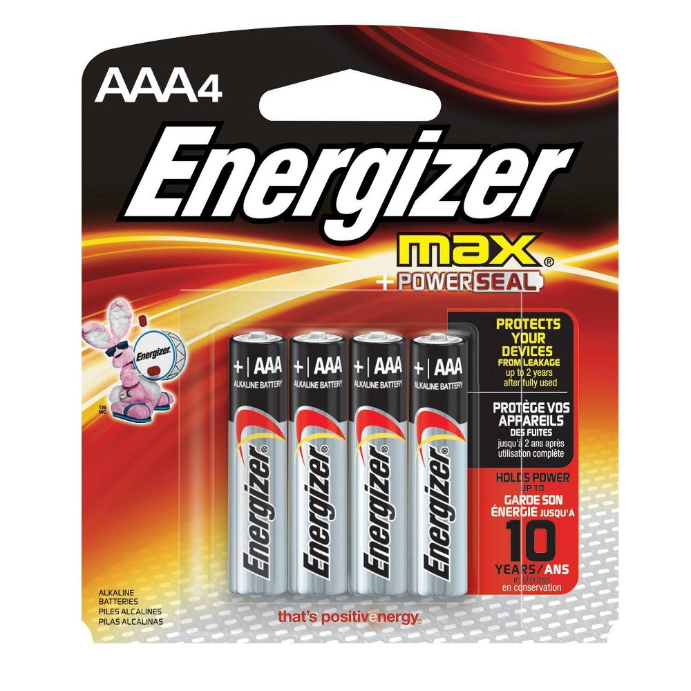 Energizer Max AAA Batteries 4 ct