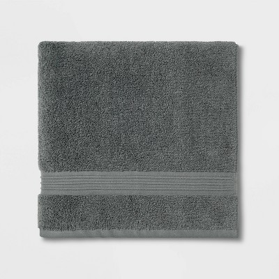 Spa Bath Towel Dark Gray- Threshold Signature™