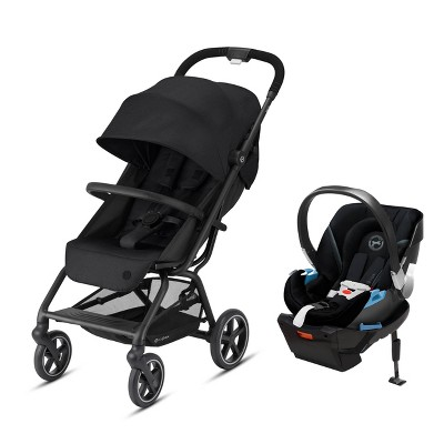 Cybex Eezy S+2 Travel System with Aton 2 Infant Car Seat - Deep Black