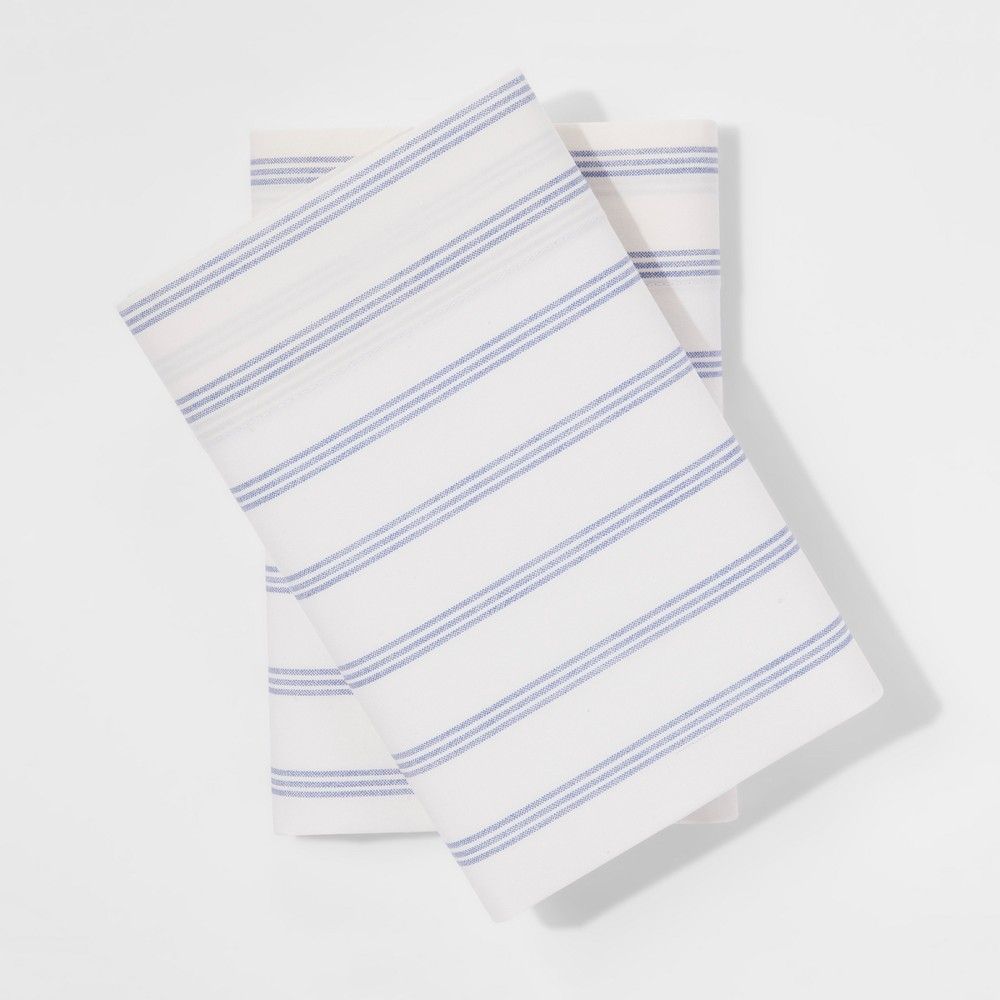 Vintage Wash Percale Pillowcases (King) Normandy Blue - Threshold