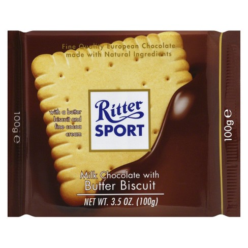 Ritter Sport Milk Chocolate with Butter Biscuit Candy Bar - 3.5oz - image 1 of 1