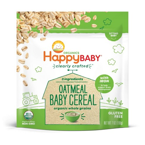 HappyBaby Clearly Crafted Oatmeal Baby Cereal - 7oz - image 1 of 3