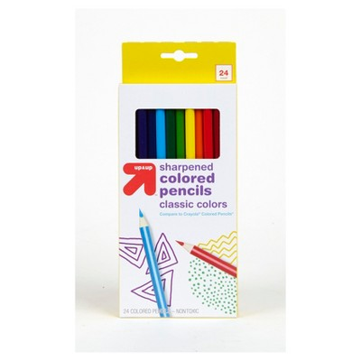 Colored Pencils 24ct (Compare to Crayola® Colored Pencils) - Up&Up™