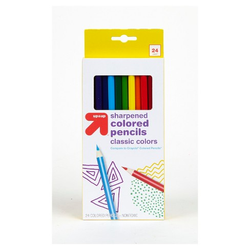 Sharpened Colored Pencils Classic Colors - Up&Up™ - image 1 of 4