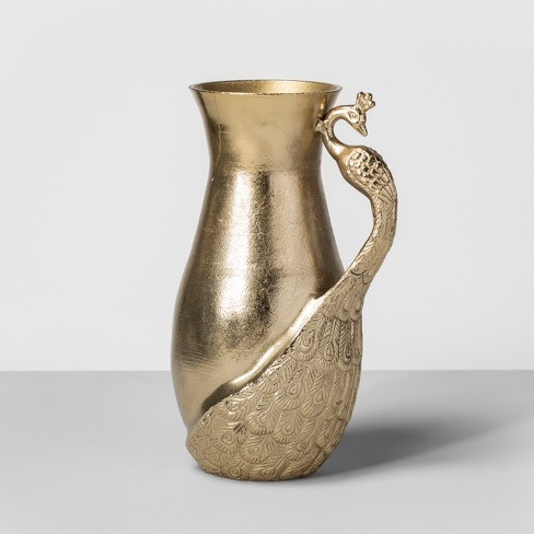 Peacock Vase Gold Opalhouse Target