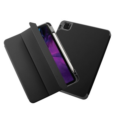 """Insten - Soft TPU Tablet Case For iPad Pro 11"""" 2020, Multifold Stand, Magnetic Cover Auto Sleep/Wake, Pencil Charging, Pure Black"""