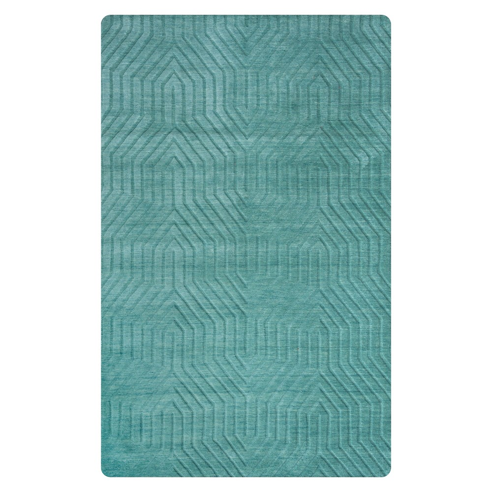 Image of 5'X8' Solid Area Rug Blue - Rizzy Home