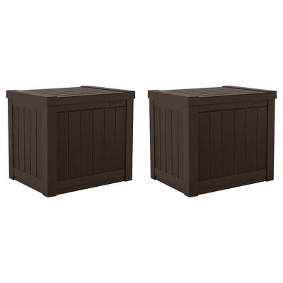 Suncast SS500 22 Gallon Small Resin Outdoor Patio Storage Deck Box