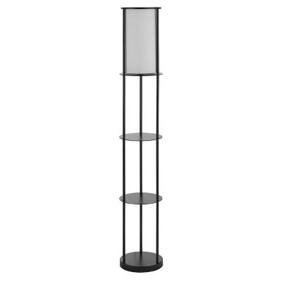Hayes Iron Floor Lamp (Includes LED Light Bulb) Black - Safavieh