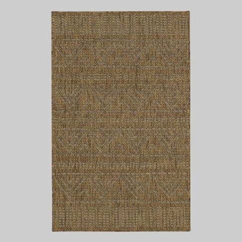 Marked Stripe Outdoor Rug Tan - Opalhouse™ - image 1 of 3