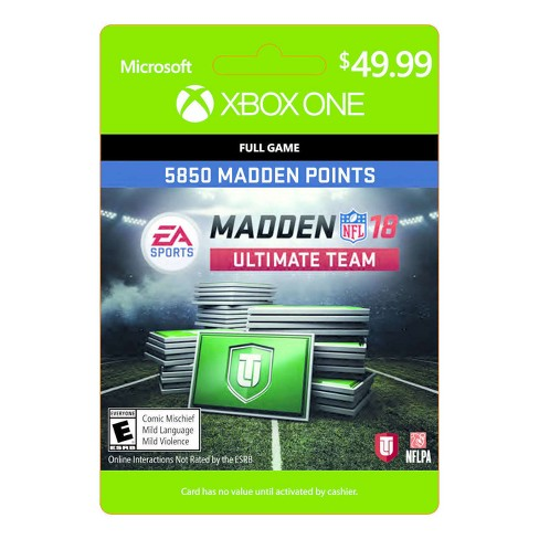 Madden NFL 18: Ultimate Team 5850 Madden Points - Xbox One (Digital) - image 1 of 1
