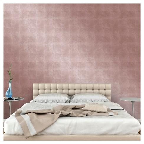 Devine Color Metallic Leaf Peel And Stick Wallpaper Rose Gold Target
