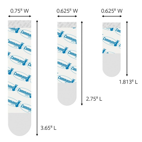 Command Clear Refill Strips (8 Small/4 Medium/4 Large Strips)