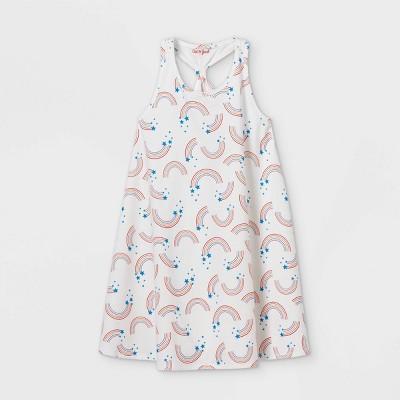 Girls' Printed Sleeveless Knit Dress - Cat & Jack™ White