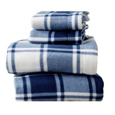 Great Bay Home Dara Printed Fleece Sheet Sets