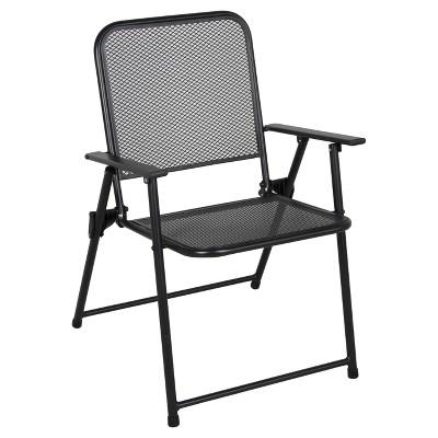 Metal Mesh Folding Patio Furniture Collection Threshold