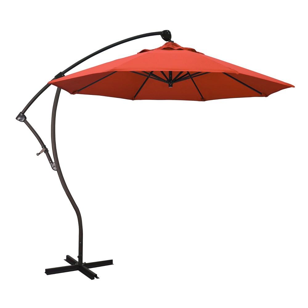 9' Cantilever Crank Lift Patio Umbrella - Orange Olefin