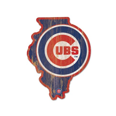MLB Chicago Cubs Wood State Sign - image 1 of 1