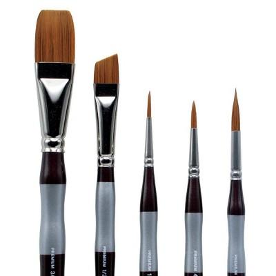 Kingart 5pc Precision Paint Brush Set