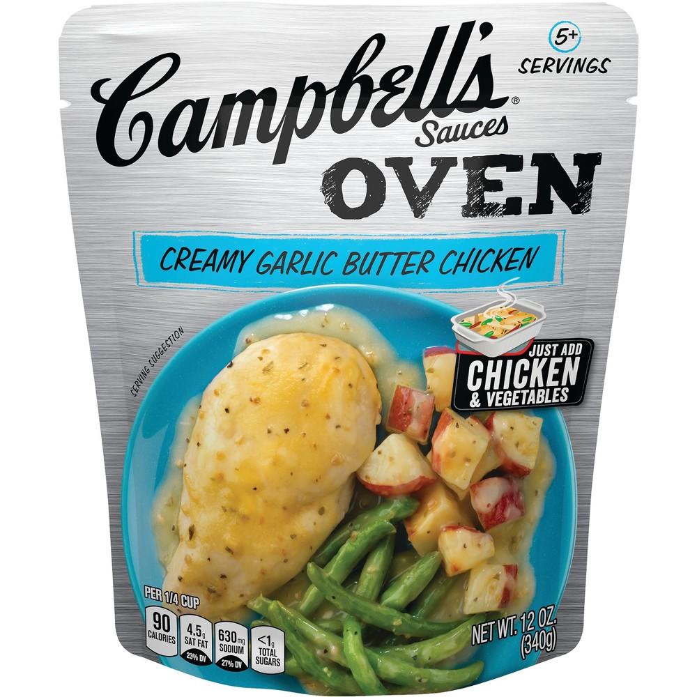 Campbells Oven Sauces Creamy Garlic Butter Chicken 12oz Best