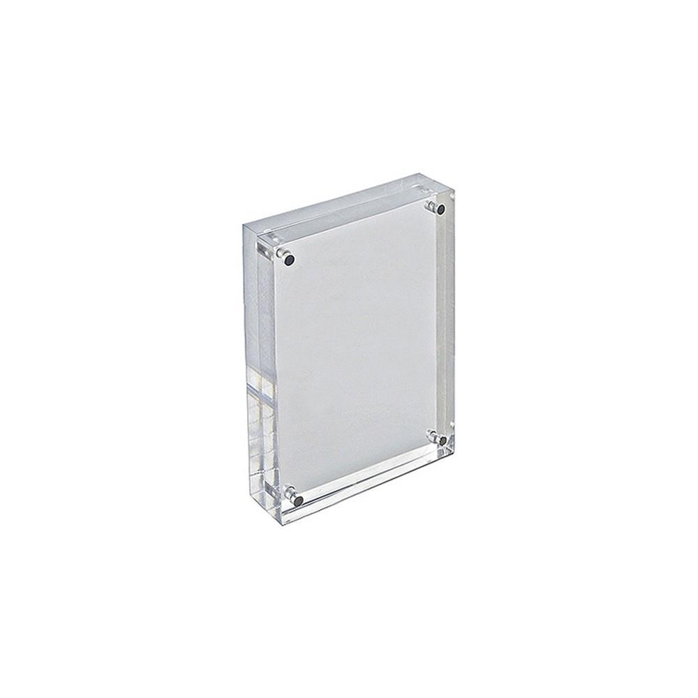 "Image of ""Azar 4"""" x 6"""" Vertical/Horizontal Acrylic Block Frame, Clear"""