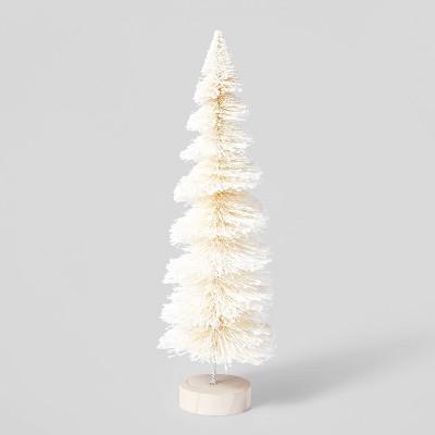 Tall Glitter Bottle Brush Tree Decorative Figurine - Wondershop™
