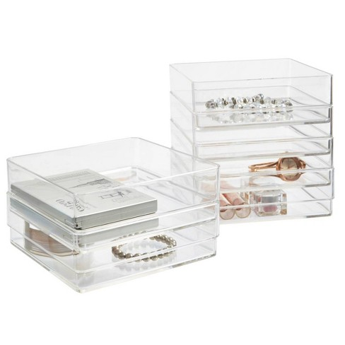"""US Acrylic 6""""x6""""x2"""" Stackable Drawer Organizer - 6pk - image 1 of 4"""
