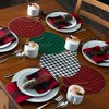 "Farmhouse Living Holiday Buffalo Check Napkins, Set of 4 - 20"" x 20"" - Red/Black - Elrene Home Fashions - image 3 of 4"
