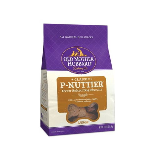 Old Mother Hubbard Classic Crunchy  P-Nuttier Biscuits Large Oven Baked Dog Treats - image 1 of 5