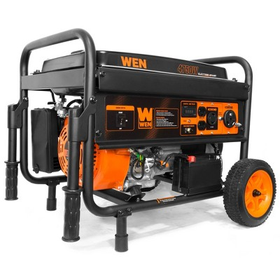 WEN 56475 4750-W Gasoline Powered Portable Generator with Electric Start