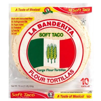 La Banderita Taco Size Flour Tortillas - 16oz/10ct