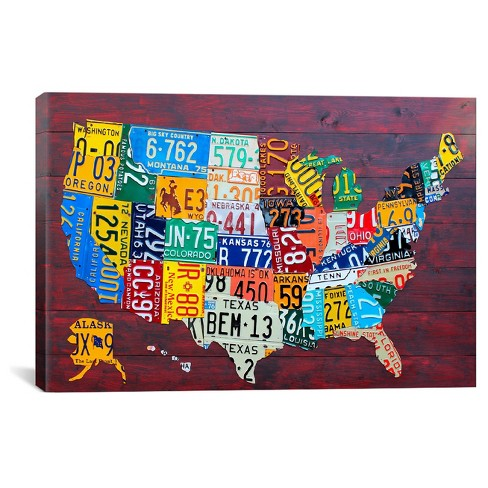 License Plate Map USA by David Bowman Canvas Print on license plate colors, license plate france, license plate malaysia, license plate water, license plate numbers, license plate mexico, license plate russia, license plate singapore, license plate italy, license plate clock, license plate art, license plate collection, license plate search, license plate germany, license plate united states, license plate syria, license plate china, license plate games, license plate country, license plate south africa,