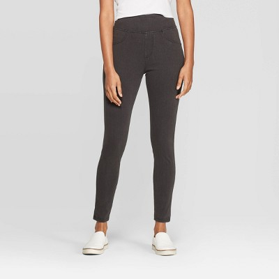 Women's High Waist Jeggings - A New Day™ Gray